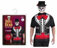 Halloween Talla Única Disfraz Día de los Muertos Camiseta Hombres Miedo Fiesta