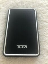TUMI Leather Portable Battery Bank/Power Bank 12000 mAh Black - Pre-Owned
