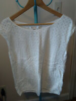 NWT Max Studio White Lace Shirt Top S Small Orig. $78
