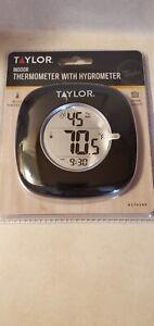 Taylor  Hygrometer/Temperature/Time  Digital Thermometer  Plastic  Black NIB.
