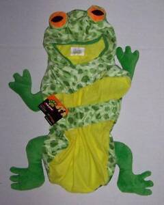 Plush Frog Costume for Pets Size Small Halloween Dog