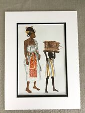 Vintage Costume Print Nigerian Dress Benin Woman Chief Ceremonial Robes
