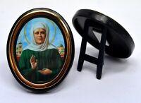 Ikone Matrona Moskauer geweiht икона Матрона Московская освящена 6x5x1 cm