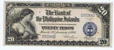 Philippines 20 Pesos 1928  VG-F  P18  #114