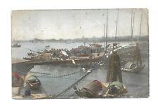 China Postcard Shanghai harbour junks used Hong Kong stamp 1907 6
