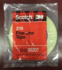 4 NEW 3M Scotch 218 Fine Line Tape 06307 3/16 in. x 60yds HOME AUTO BOATS CRAFTS