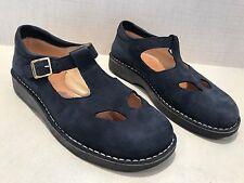 Zecchino D'Oro Blue Suede Leather Sandal Shoes Women's Size 39 US 8 Retail $125