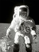 MOON LANDING ASTRONAUGHT SPACEMAN PHOTO ART PRINT POSTER PICTURE BMP1292A