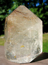 Polished Madagascar Rutilated Quartz Crystal  ~ Golden Rutile