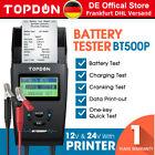 TOPDON Auto Batterietester Prüfer KFZ Diagnosegerät + Eingebaut Drucker 12V/24V