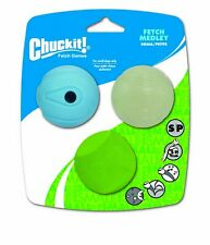 Chuckit FETCH BALL MEDLEY 2 inch Pack Small Dog Toy Whistler-Erratic-Fetch
