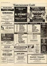 Supertramp Gallagher & Lyle Chris Deburgh Hammersmith Odeon MM5 Advert 1975 #1A