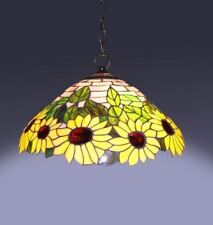 Sunflower Ceiling Light Stained Glass Dining Room Tiffany Style Pendant S