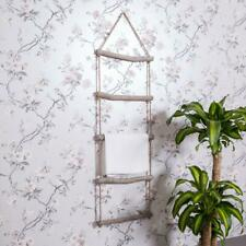 Wooden Rope Ladder Towel Rail Shabby Vintage Chic Bathroom Kitchen Wall Hanging