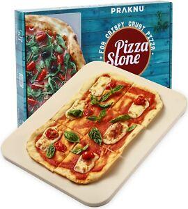 Pizzastein 38x30 cm eckig für Backofen Grill Ofen Pizza Brot Flammkuchen Stein