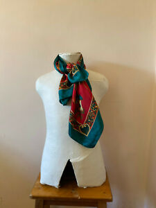 Red and Green Scarf 87cms x 87cms...