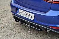 Sonderaktion Heckansatz Heckeinsatz Diffusor aus ABS für VW Golf 7 GTI