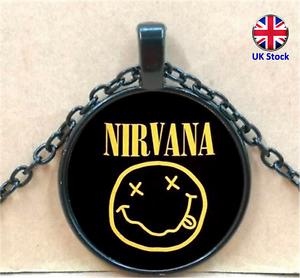 Unisex Nirvana Pendant Necklace - Kurt Cobain Gift - UK Stock