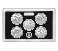 2016 S America the Beautiful National Parks Mint Silver Proof Set in Lens Case