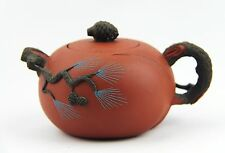 CHINESE YIXING ZISHA CLAY ARTISTIC MINIATURE TWO-TONE TEAPOT AND COVER NEW # 40