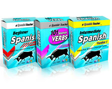 eSpanishTeacher Learn To Speak Spanish 3-Disc Software Course Windows PC & Mac