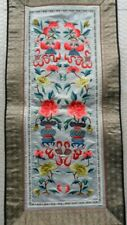 Chinese 100%Hand embroidered Peking Embroidery Art:flower&peach screen