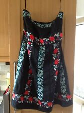 Monsoon BlAck Embroided Dress Size 22