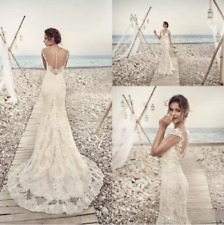Sexy Mermaid White Ivory Wedding Dress Bridal Gown Custom Made 6 8 10 12 14 16++