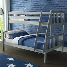 New Oxford Double Triple Bunk Bed Sleeper in Light Grey - Small Double