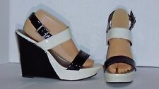 G BY GUESS – SANDALS – PLATFORM WEDGES – BISQUE BEIGE & BLACK –SIZE 10 - NEW $78