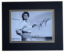 Sophia Loren Signed Autograph 10x8 photo display Hollywood Film AFTAL & COA