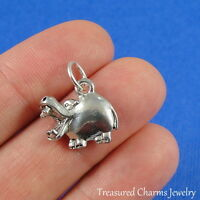 Silver HIPPOPOTAMUS HIPPO CHARM PENDANT *NEW*