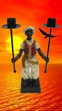 Skulptur Diener 2 Lampenträger Kolonial Afrika Sammelfigur Geschenk Kolonialzeit