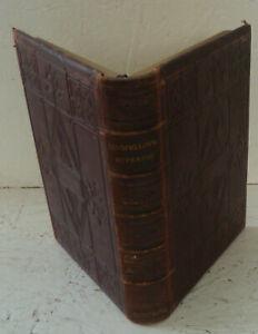 Vintage Book 1853 Hyperion: A Romance Longfellow Leather Illus Birket Foster