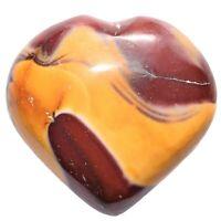 "[1] Charged 3"" Australian Mookaite Crystal Heart Palm / Worry Stone ~6 ounces"