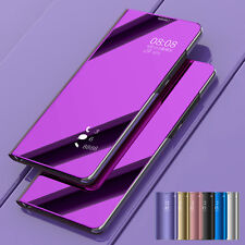 For Samsung Galaxy Note 9 Luxury Mirror View Flip Case Stand Shockproof Cover