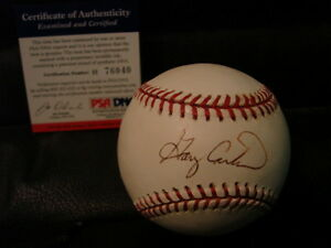 Gary Carter Autograph baseball psa/dna New York Mets