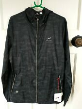 Mens Pro Touch Jobi UX Running Jacket Black Night Sizes L - XL Full Zip Wicking