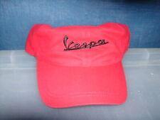 Vespa logo baseball style cap in red black text