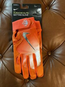 NEW Nike Huarache Elite Baseball Batting Gloves Orange Men's Size Large L