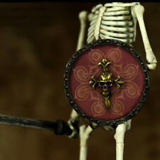 """1/6 Scale Skeleton Shield and Sword For 12"""" Hot Toys Figure Body"""