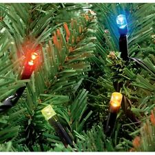 100 Outdoor Static LED Christmas Xmas Lights in Multi Coloured