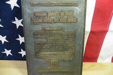 Antique Trading Advertising S & H Green stamp Salesman metal reverse Trading
