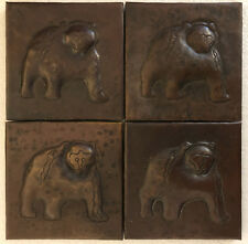 Copper Tile (TL318-4x4) Bear Design, Set of 4 *free shipping*