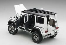 Autoart  MERCEDES BENZ G500 4X4² 2016 GLOSS WHITE 1/18 Scale New! In Stock!