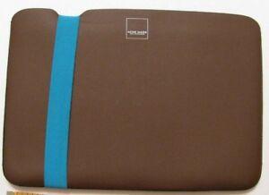 "Acme Made Sleeve java teal blue brown 8 1/2"" x 12"" exterior meassurement"