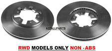 FOR NISSAN NAVARA D22 2WD 2.5TD 02 03 04 05 06 07 FRONT BRAKE DISC SET NON ABS