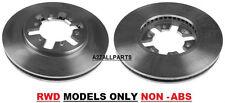 Para Nissan Navara D22 2x2 2.5 Td 02 03 04 05 06 07 Frente Disco De Freno Set non Abs