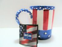 Americana Mug Red White & Blue New w Hang Tag Featuring The Story of Uncle Sam