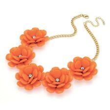Flowers & Plants Crystal Chain Costume Necklaces & Pendants